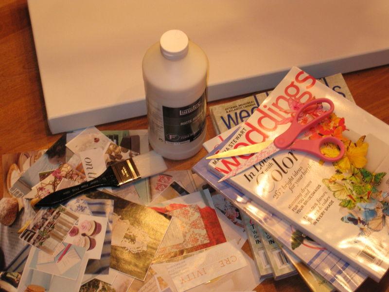 Decopage canvas