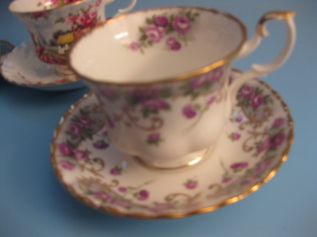 Tea cup purple